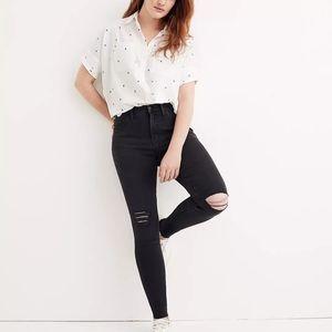 NWT madewell raw hem mid rise skinny jeans